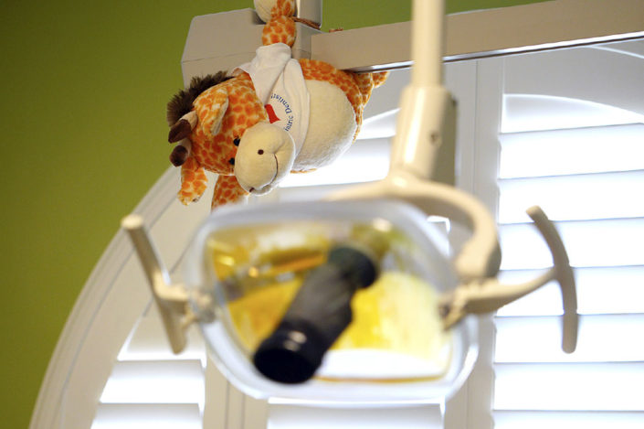 Hanging Animals Dental Exam Room For Kids - Dr. Barrera Campbell CA Pediatric Dentist