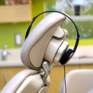 Headphones are used as an accompaniment to sedation dentistry for kids in Campbell, CA.